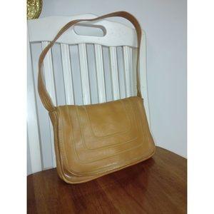 Vintage Leather Flap Shoulder Bag Made in Brazil
